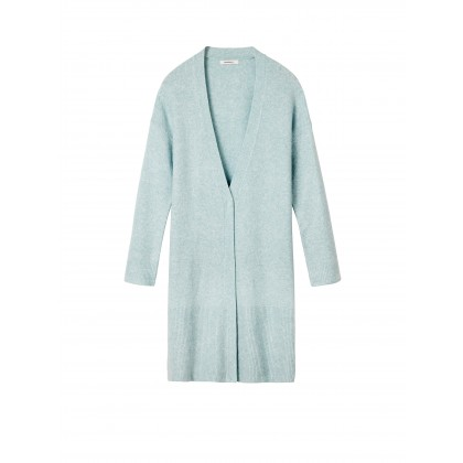 Lange Strickjacke - Mineral Blue /