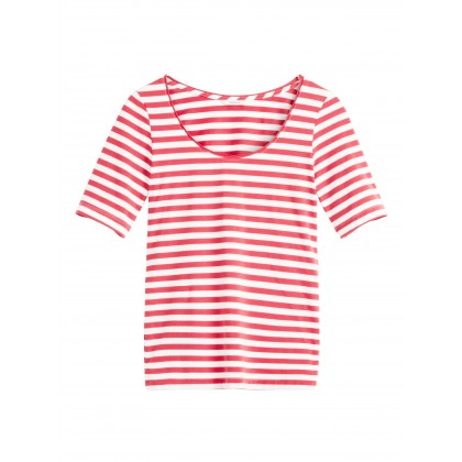 Streifenshirt - Flower Red /