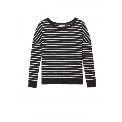 Gestreifter Pullover - Almost Black /