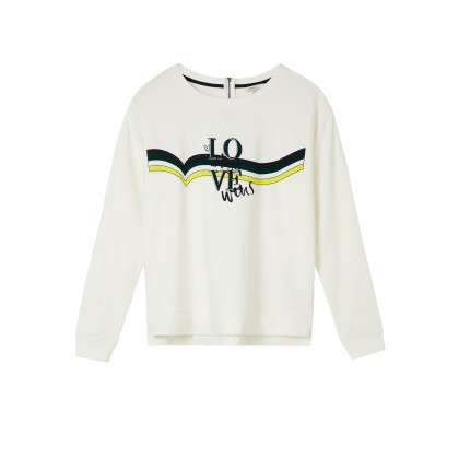 Sweater mit Print - Spring White /