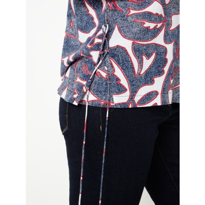 Top mit Grafik-Print - Navy /