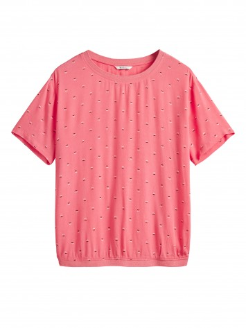 T-Shirt mit All-over-Print - Tea Rose /