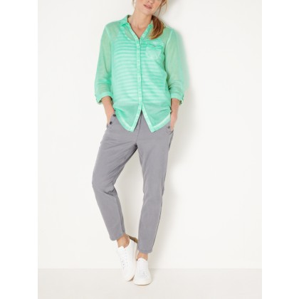 Statement Bluse - Neptune Green /