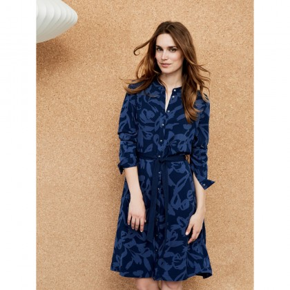 Kleid mit Grafik-Design - Navy /
