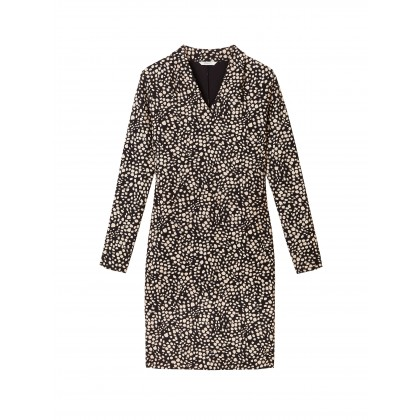 Kleid mit All-over-Print - Almost Black /