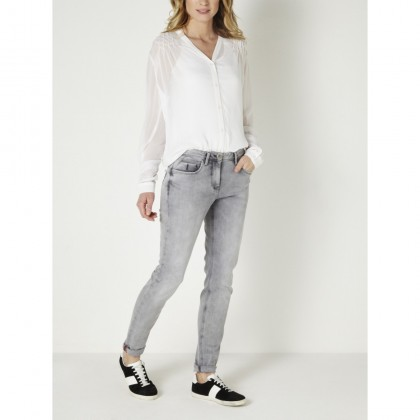 Skinny Jeans - Grey Denim /
