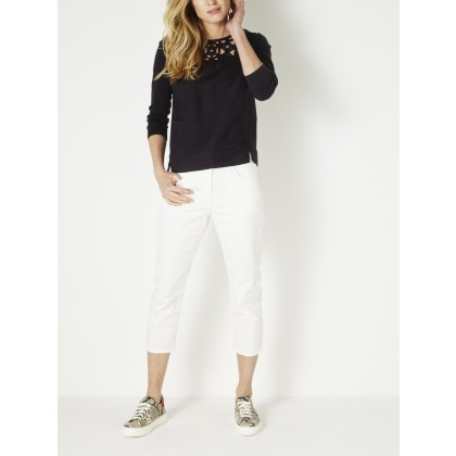 7/8-Skinny mit hoher Taille - Lily White /
