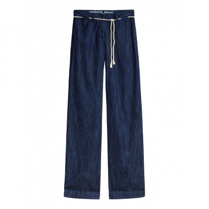 Malmo weite Hose - Medium Blue Denim /