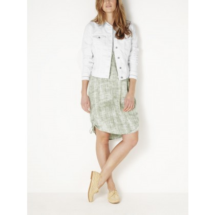 Denim Jacke mit Bomberkragen - White Denim /