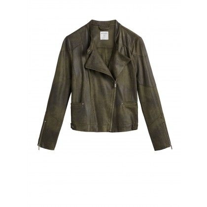 Bikerjacke - Dark Bottle Green /