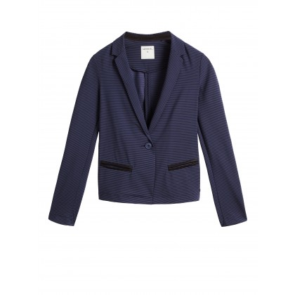 Blazer aus Travel Jersey - True Blue /