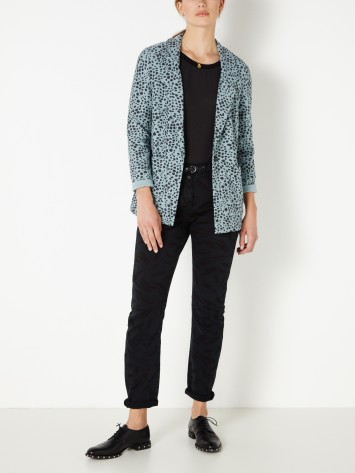 Terry Blazer mit All-over-Print - Mineral Blue /
