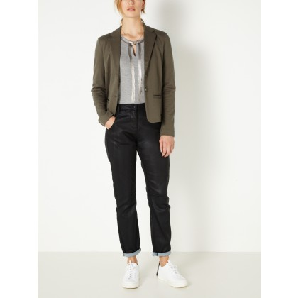 Blazer mit Lurex-Paspel - Grape Leaf /
