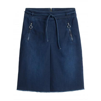 Rok in Jogg-Denim - Blue Denim /