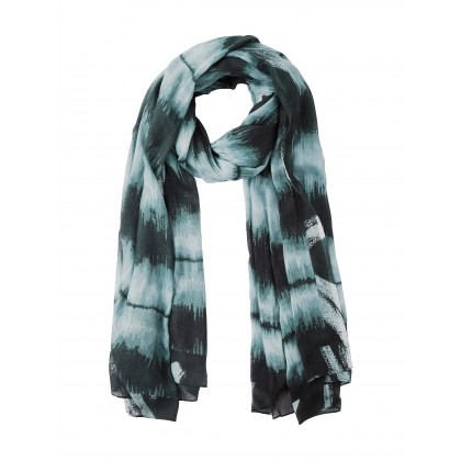 Tie-Dye-Schal - Almost Black /