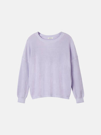 Gerippter Pullover - Pastel Lilac /
