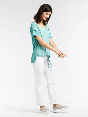 T-shirt with long back - Anise Green /