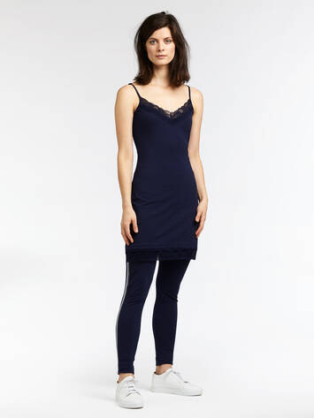 Long top with lace - Maritime Blue /