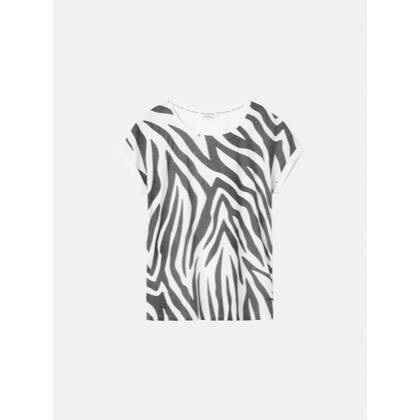T-Shirt mit Zebra-Print - Almost Black /