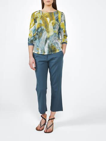 Top mit painted Print /