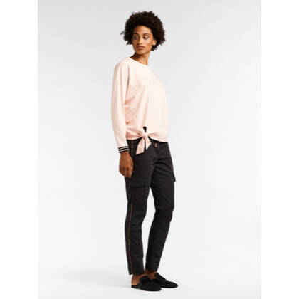 Sweater mit Schleifendetail - Washed Rose /