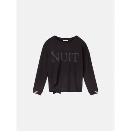 Sweater mit Schleifendetail - Almost Black /