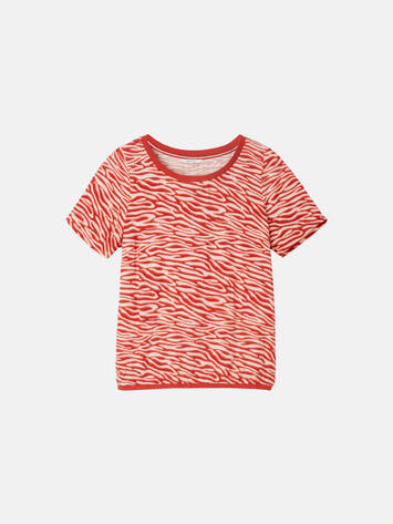 Top mit Zebra-Print - Burned Red /
