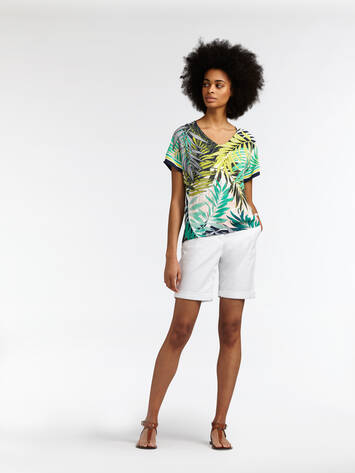 Top with palm print - Jolly Green /