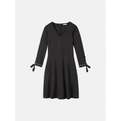 Glockig fallendes Kleid - Almost Black /