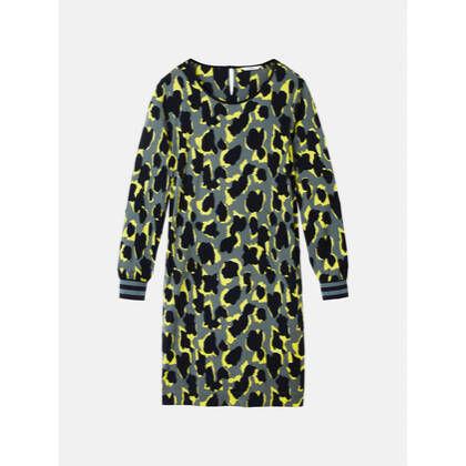 Kleid mit Animal Print - Dark Saphhire /