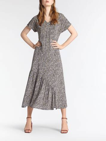 Long dress with a print /