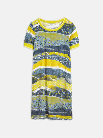 Kleid mit All-over-Print /
