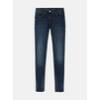 High Waist Skinny - Medium blue denim /