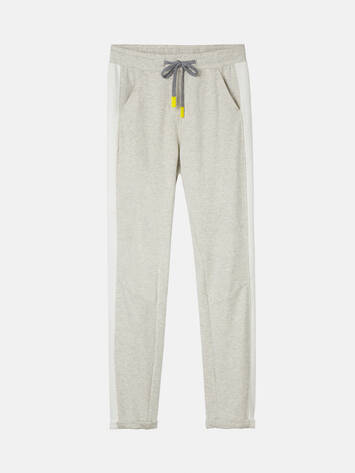 Jogginghose mit Paspel - Fresh Grey HTR /