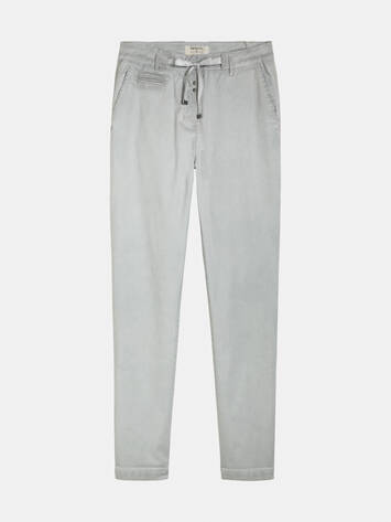 Straight trousers with bow - Pearl Grey /