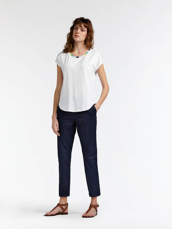 Chino-Hose mit washed Effekt - Navy /