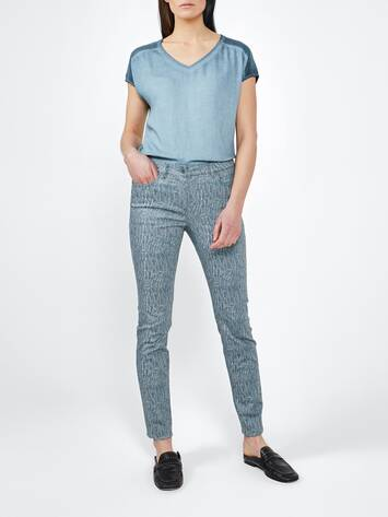 Low Waist Skinny Jeans mit All-over Print /