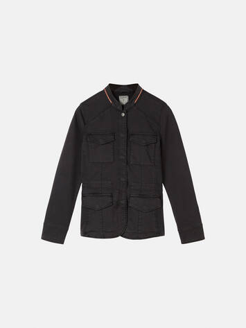 Cargo-Jacke - Almost Black /
