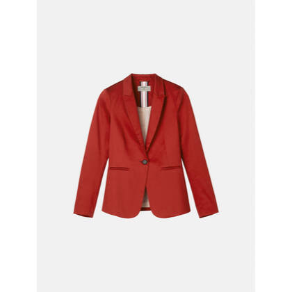 Glänzender Blazer - Burned Red /
