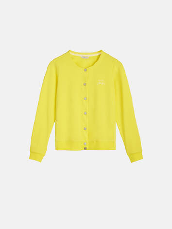 Bomberjacke mit Stickerei - Blazing Yellow /