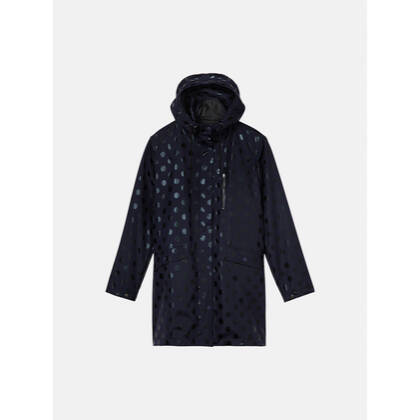 Parka mit Ton in Ton Punktemuster - Maritime Blue /