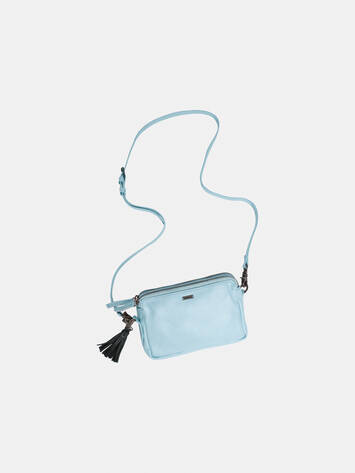 Leather bag - Forget-me-not /
